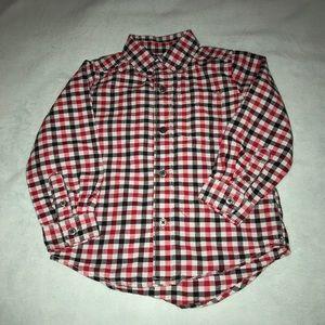 Children's Place - Boys 3T - plaid shirt